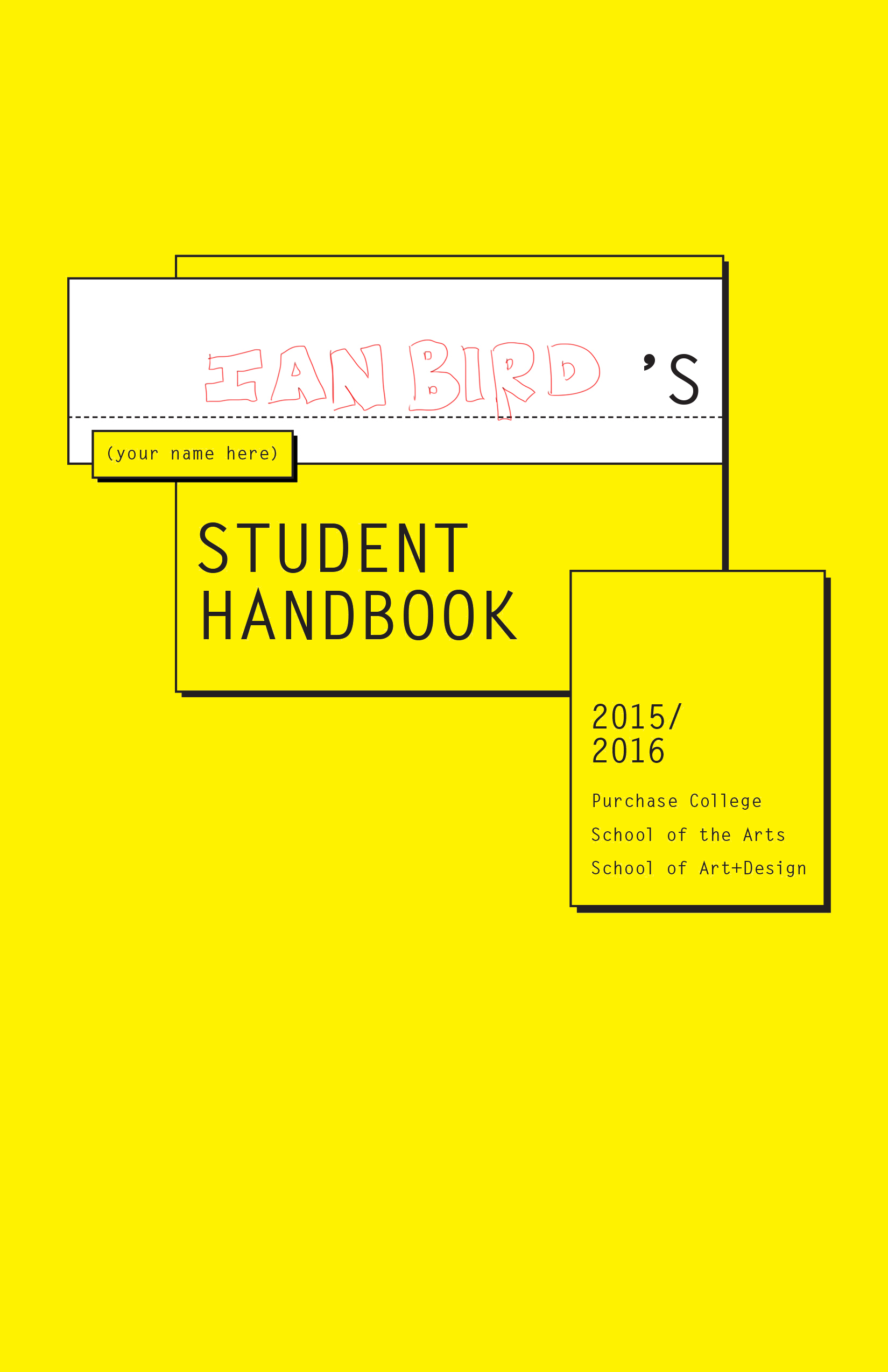 2015-16 SUNY Purchase Student Handbook by CB, ian