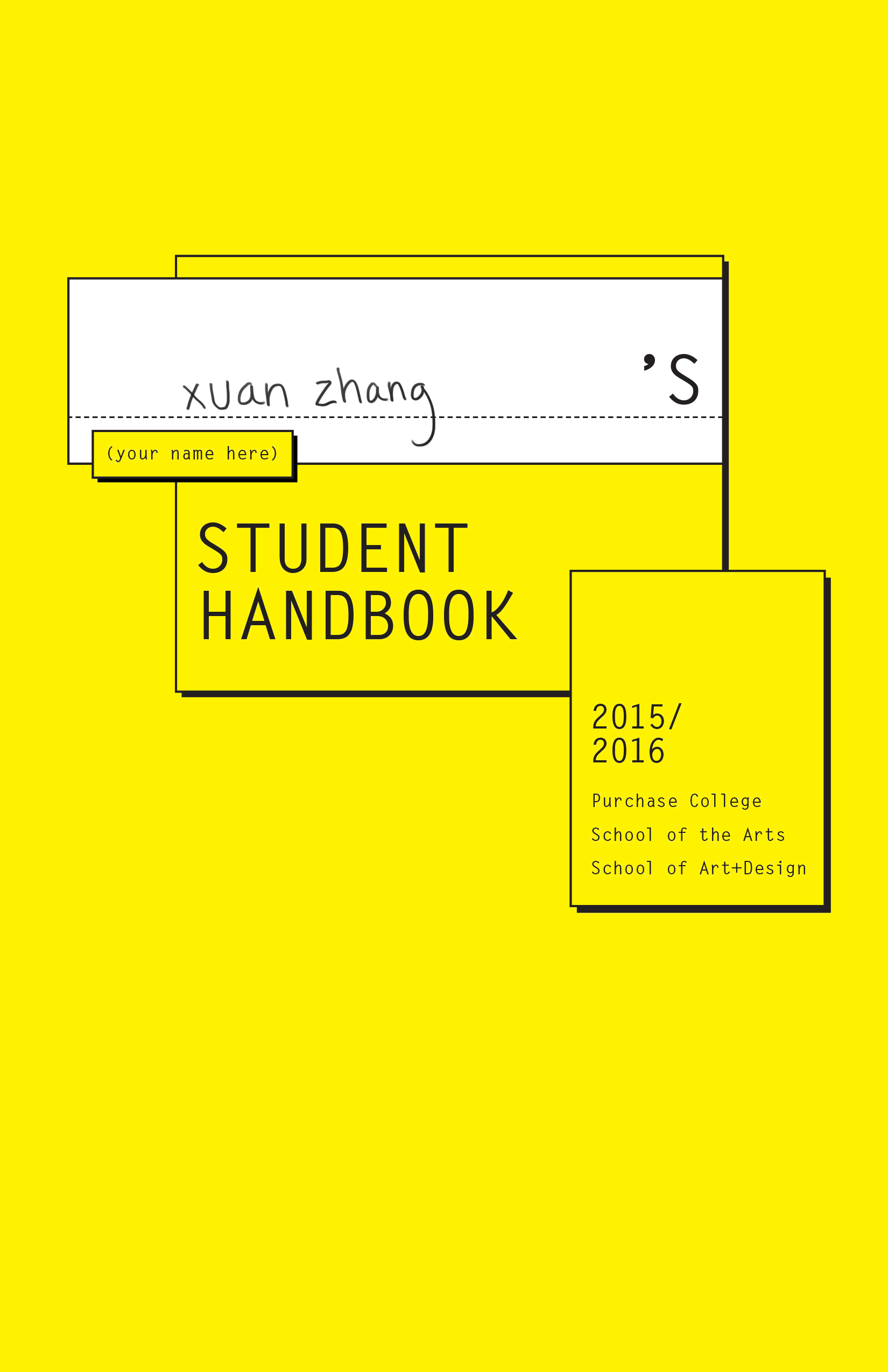 2015-16 SUNY Purchase Student Handbook by CB, xuan