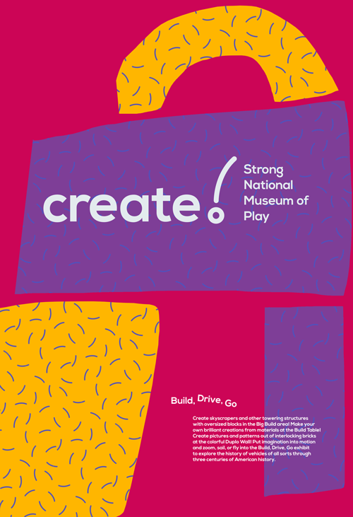 Strong National Museum of Play poster design by CB